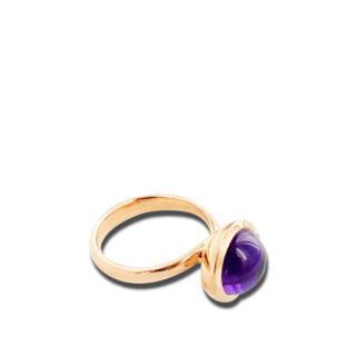 Tamara Comolli Ring Bouton Small Aqua Chalcedon R-BOU-S-CHAQ-RG