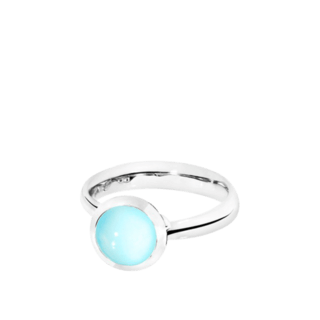 Tamara Comolli Ring Bouton Small Aqua Chalcedon R-BOU-S-CHAQ-WG