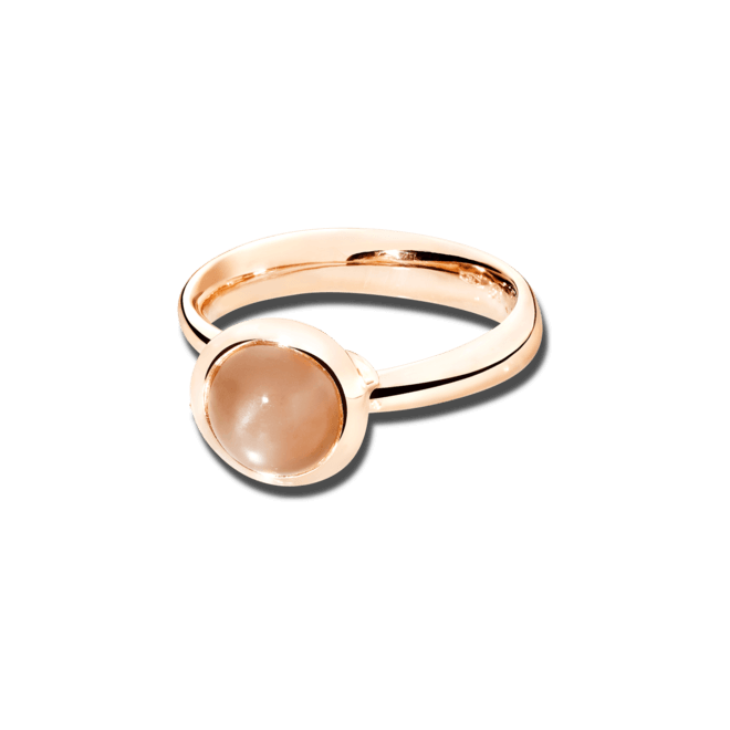 Ring Tamara Comolli Bouton Small Caramel Mondstein aus 750 Roségold mit 1 Mondstein