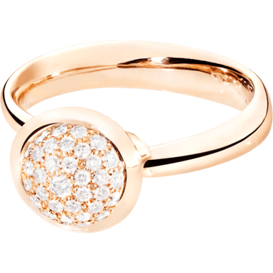 Tamara Comolli Ring Bouton Small Diamant Pavé R-BOU-S-P-RG