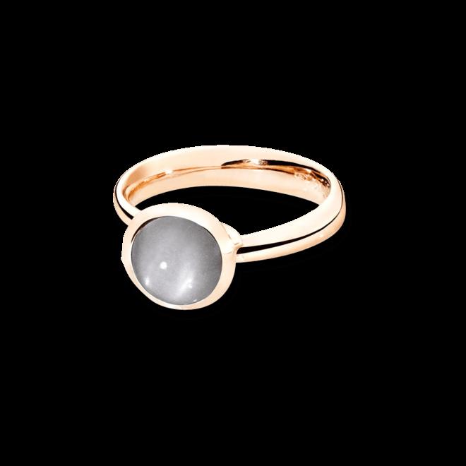 Ring Tamara Comolli Bouton Small Grauer Mondstein aus 750 Roségold mit 1 Mondstein