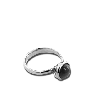 Tamara Comolli Ring Bouton Small Grauer Mondstein R-BOU-S-MOGR-WG