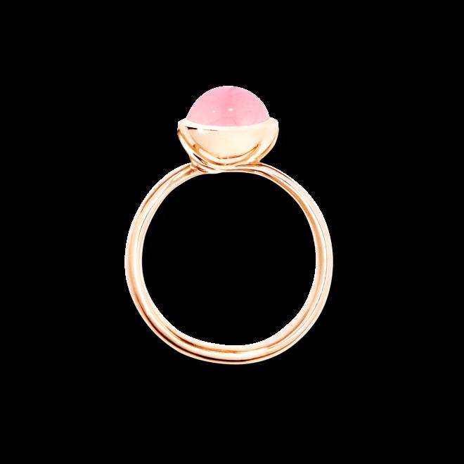 Ring Tamara Comolli Bouton Small Pink Chalcedon aus 750 Roségold mit 1 Chalcedon