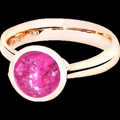 Tamara Comolli Ring Bouton Small Pink Turmalin R-BOU-S-TUPI-RG