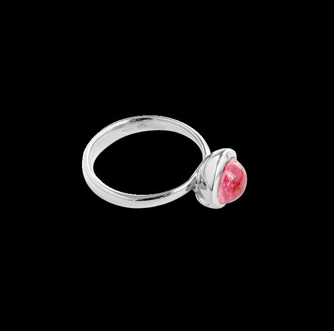 Ring Tamara Comolli Bouton Small Pink Turmalin aus 750 Weißgold mit 1 Turmalin