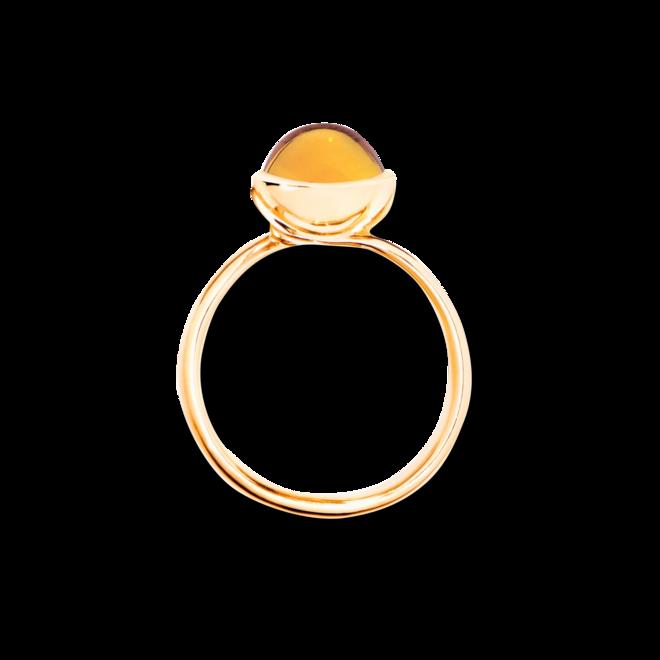 Solitairering Tamara Comolli Small aus 750 Gelbgold mit 1 Citrin bei Brogle