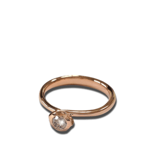 Tamara Comolli Ring Bouton Solitär Champagne Diamant R-BOU-0.25-CA-RG