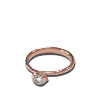 Tamara Comolli Ring Bouton Solitär Diamant R-BOU-0.25-CL-RG
