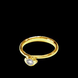 Tamara Comolli Ring Bouton Solitär Diamant R-BOU-0.25-CL-YG