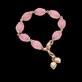 Tamara Comolli Armband Coconut S Pinkfarbener Chalcedon B-CO-S-LV-CHPI-RG