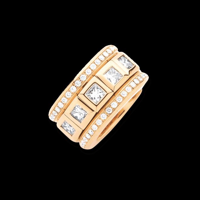 Ring Tamara Comolli Curriculum Vitae Large mit Pavé aus 750 Roségold mit 12 Diamanten (6,25 Karat)