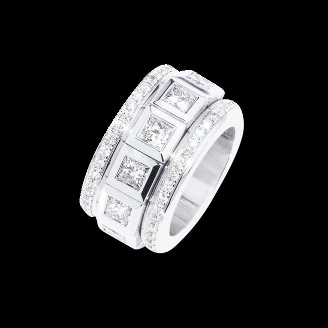 Ring Tamara Comolli Curriculum Vitae Large mit Pavé aus 750 Weißgold mit 12 Diamanten (6,25 Karat)