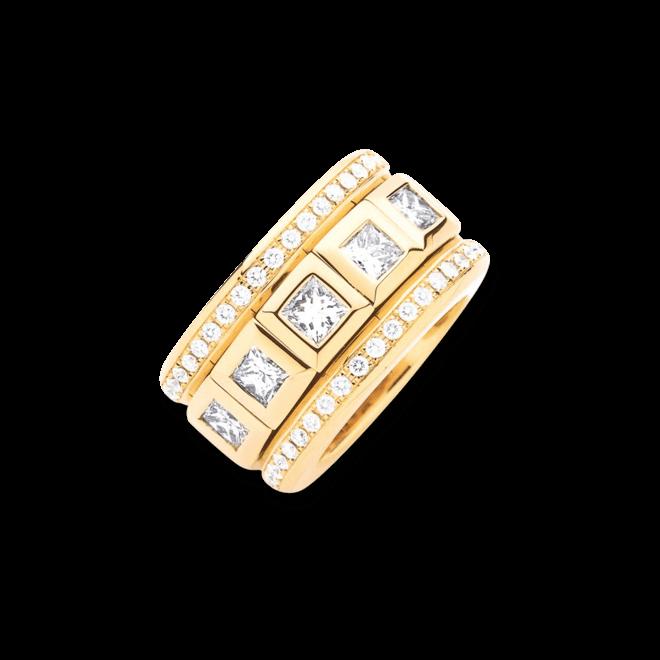 Ring Tamara Comolli Curriculum Vitae Large mit Pavé aus 750 Gelbgold mit 12 Diamanten (6,25 Karat)