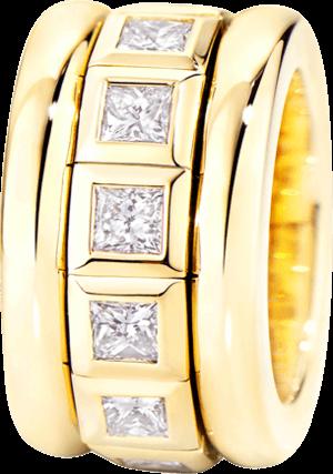Ring Tamara Comolli Curriculum Vitae Large aus 750 Gelbgold mit 12 Diamanten (4,8 Karat)