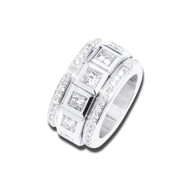 Ring Tamara Comolli Curriculum Vitae Princess Cut Diamonds Large aus 750 Weißgold mit mehreren Diamanten (6,25 Karat)