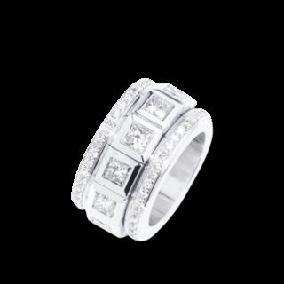 Tamara Comolli Ring Curriculum Vitae Princess Cut Diamonds Large R-CV-L-12PR-P-WG