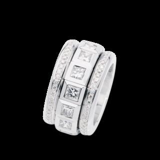 Tamara Comolli Ring Curriculum Vitae Princess Cut Diamonds R-CV77-12PR-P-WG