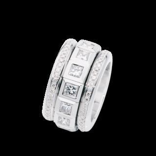Tamara Comolli Ring Curriculum Vitae Princess Cut Diamonds R-CV77-13PR-P-WG