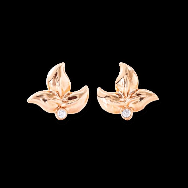 Ohrring Tamara Comolli Fairy aus 750 Roségold mit 2 Brillanten (2 x 0,02 Karat)