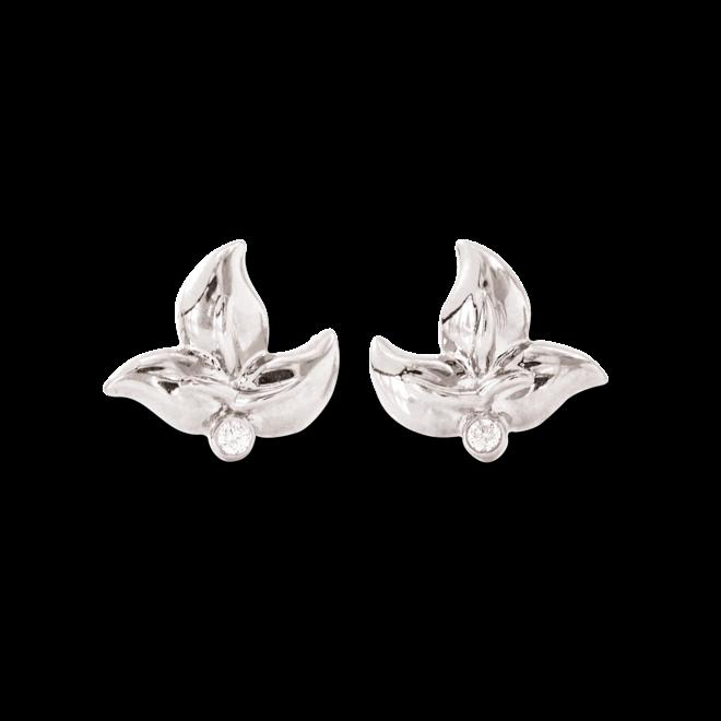 Ohrring Tamara Comolli Fairy aus 750 Weißgold mit 2 Brillanten (2 x 0,02 Karat)