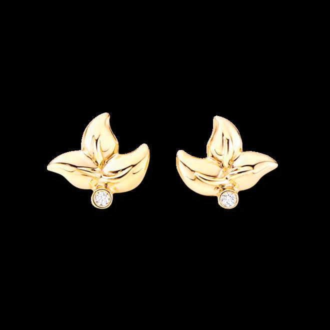Ohrring Tamara Comolli Fairy aus 750 Gelbgold mit 2 Brillanten (2 x 0,02 Karat)