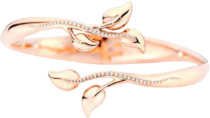 Armspange Tamara Comolli Fairy Pavéline aus 750 Roségold mit mehreren Brillanten (0,23 Karat) Größe S