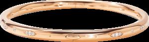 Armreif Tamara Comolli Gypsy Classic aus 750 Roségold mit mehreren Brillanten (0,37 Karat) Größe 17 cm