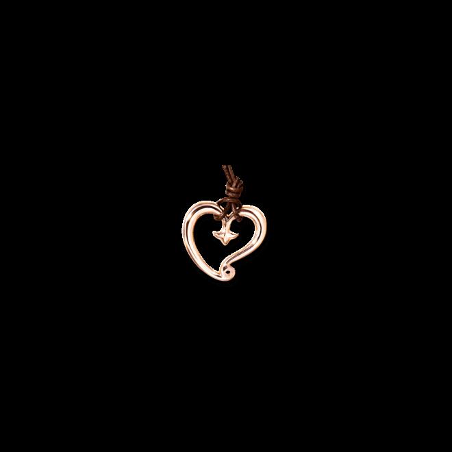 Anhänger Tamara Comolli Gypsy Heart aus Messing 18 Karat rosévergoldet