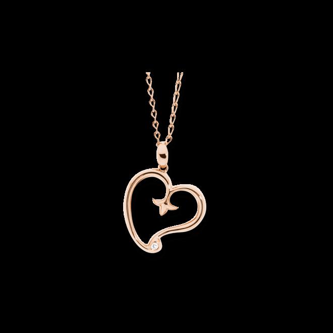 Anhänger Tamara Comolli Heart aus 750 Roségold mit 2 Diamanten (0,03 Karat)