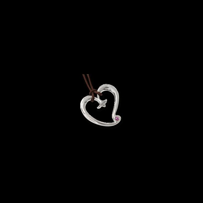 Anhänger Tamara Comolli Gypsy Heart Saphir aus 925 Sterlingsilber mit 1 Saphir
