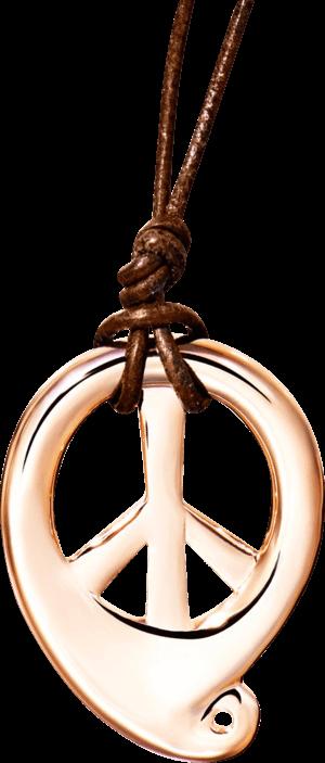 Anhänger Tamara Comolli Peace aus Messing 18 Karat rosévergoldet