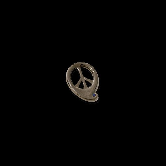 Anhänger Tamara Comolli Peace Saphir aus 925 Sterlingsilber mit 1 Saphir