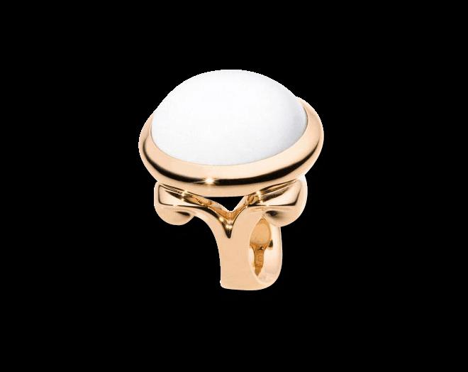 Ring Tamara Comolli Hippie Glam Cacholong Small aus 750 Roségold mit 1 Cacholong