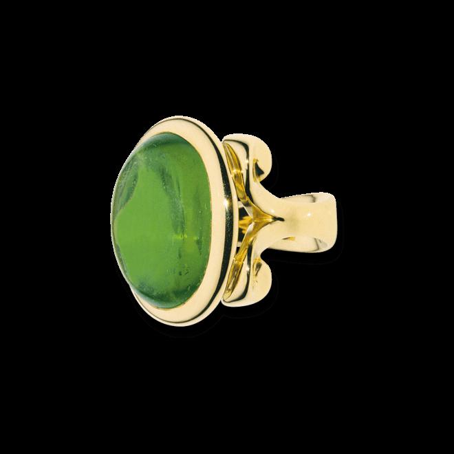Ring Tamara Comolli Hippie Glam Grüner Turmalin Small aus 750 Gelbgold mit 1 Turmalin
