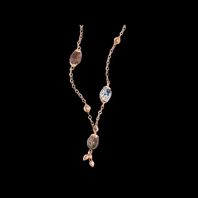 Halskette Tamara Comolli Hippie Glam aus 750 Roségold mit mehreren Ocean Jasper und mehreren Diamanten
