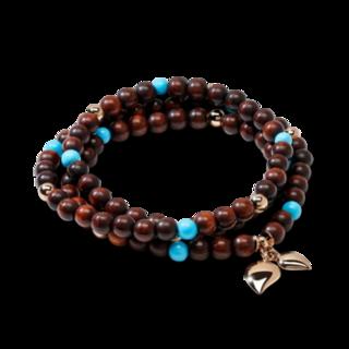 Tamara Comolli Armband und Halskette India B-IND-SWTUR-3-M-RG