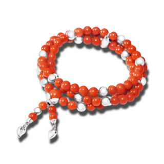 Tamara Comolli Armband und Halskette Coral B-IND-COR-M-WG