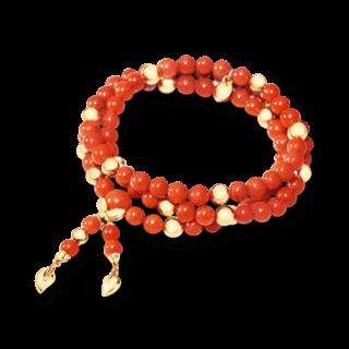 Tamara Comolli Armband und Halskette Coral B-IND-COR-M-YG