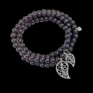 Tamara Comolli Armband und Halskette India Ebony Gold Leaves B-IND-EW-LEAF-M-WG