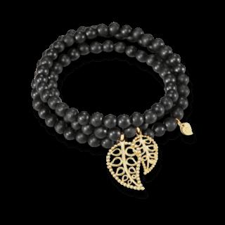 Tamara Comolli Armband und Halskette India Ebony Gold Leaves B-IND-EW-LFBD-L-YG