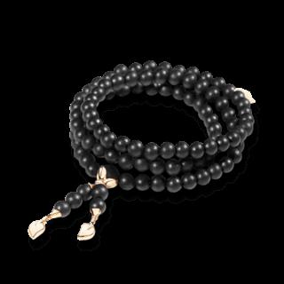 Tamara Comolli Armband und Halskette India Ebony Plain B-IND-EW-L-RG