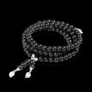 Tamara Comolli Armband und Halskette India Ebony Plain B-IND-EW-L-WG