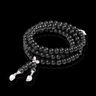 Tamara Comolli Armband und Halskette India Ebony Plain B-IND-EW-M-WG