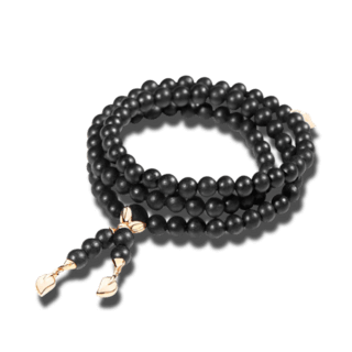 Tamara Comolli Armband und Halskette India Ebony Plain B-IND-EW-S-RG
