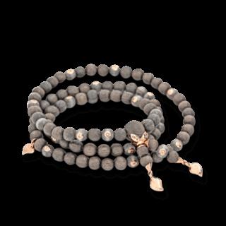 Tamara Comolli Armband und Halskette India Greywood mit 20 Brillanten B-IND-GW-20CA-S-RG