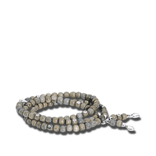 Tamara Comolli Armband und Halskette India Greywood mit 8 Brillanten B-IND-GW-8CA-M-WG