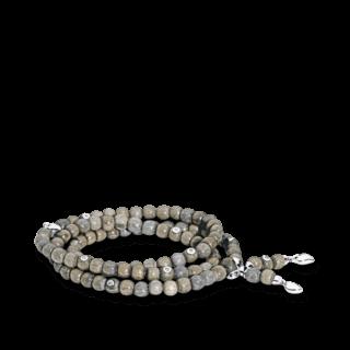 Tamara Comolli Armband und Halskette India Greywood mit 8 Brillanten B-IND-GW-8CA-S-WG