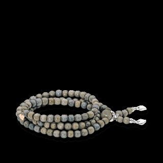 Tamara Comolli Armband und Halskette India Greywood Plain B-IND-GW-L-WG