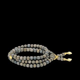 Tamara Comolli Armband und Halskette India Greywood Plain B-IND-GW-M-YG
