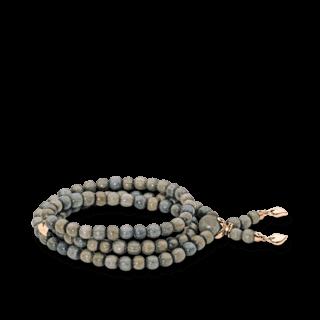 Tamara Comolli Armband und Halskette India Greywood Plain B-IND-GW-S-RG